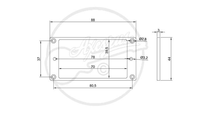Flat Plastic Humbucker Ring Spec