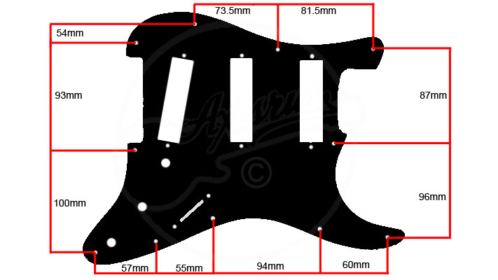 Square cut pickguard spec
