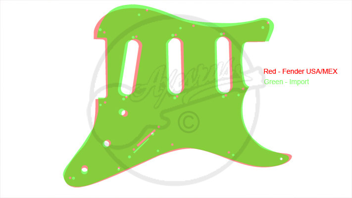 Import S Type Style Pickguard - Comparison