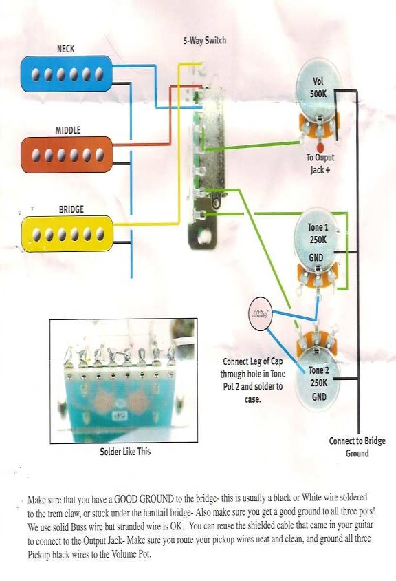 FENDER SQUIER STRAT WIRING DIAGRAM - ELECTRIC MX TL on